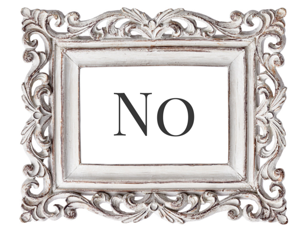 "How to say ""no"" to everything ever."