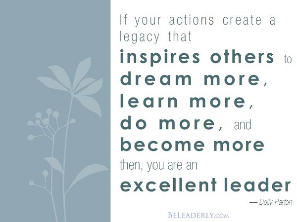 Leaderly Quote If Your Actions Create A Legacy Be Leaderly