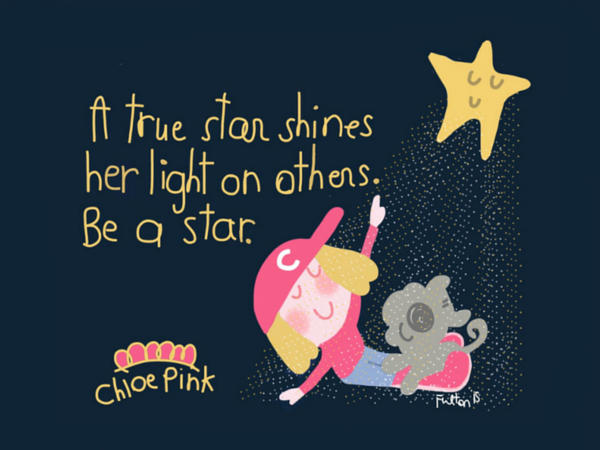 A true star shines her light on others