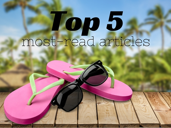 Top five most-read articles this month