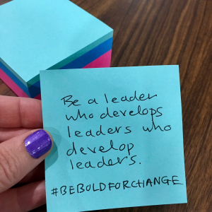 1. Be Bold for Change