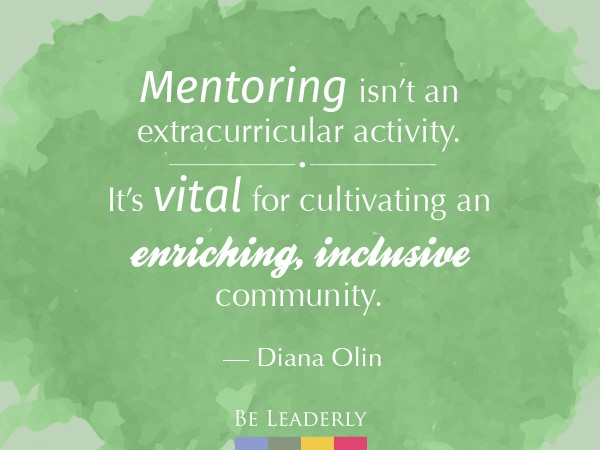 Mentoring isn't an extracurricular activity
