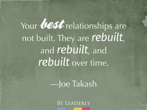 Leaderly Quote: Your best relationships are not built…