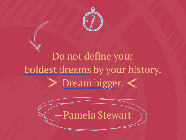 Leadership quote by women: Do not define your boldest dreams