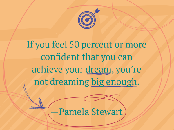 If you feel more confident-achieve your dream.
